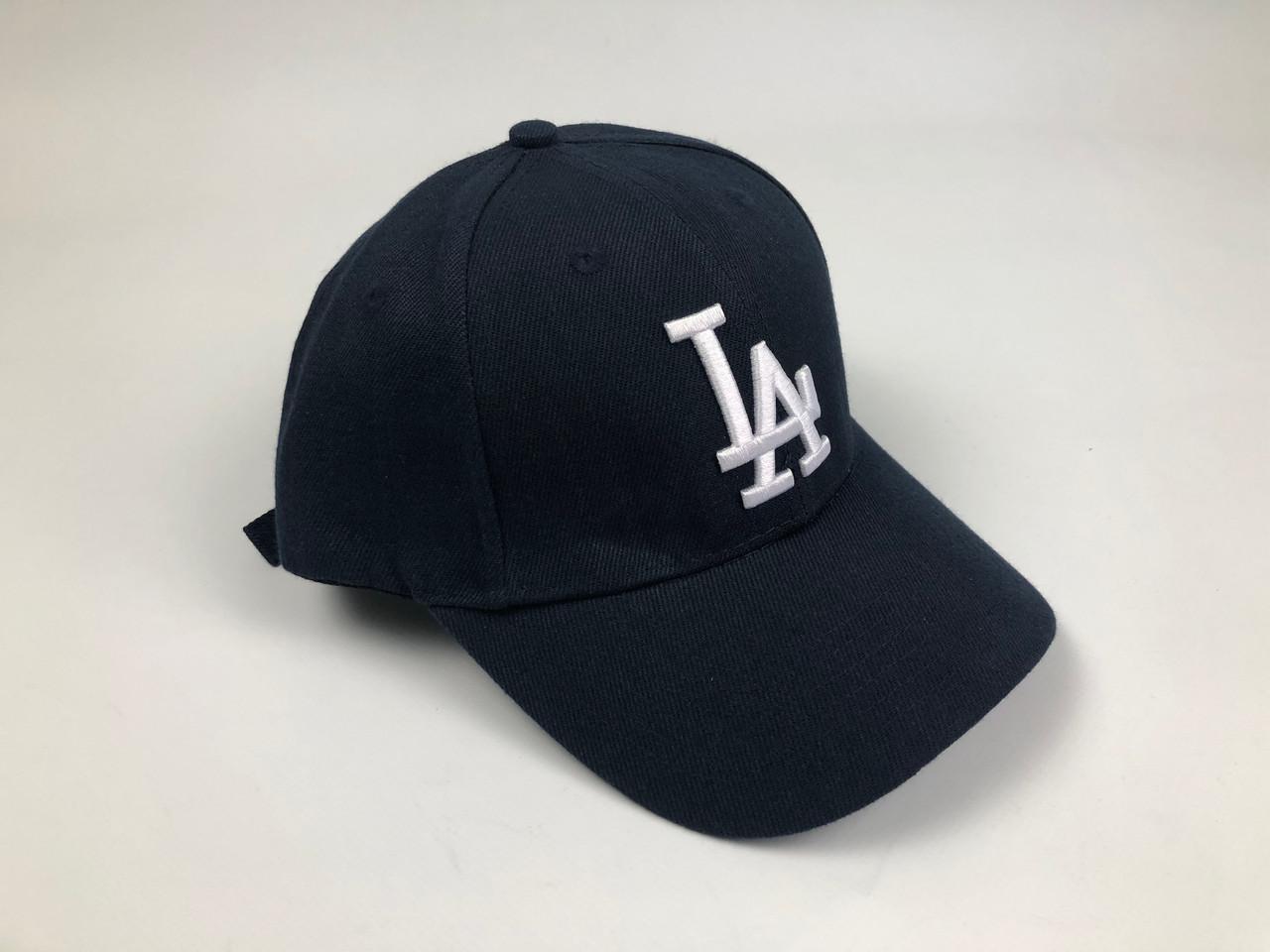 Кепка Бейсболка Мужская Женская MLB Los Angeles LA Темно-Синяя с Белым лого