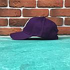 Кепка Бейсболка Мужская Женская MLB New York Yankees NY Фиолетовая с Белым лого, фото 2