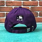 Кепка Бейсболка Мужская Женская MLB New York Yankees NY Фиолетовая с Белым лого, фото 4