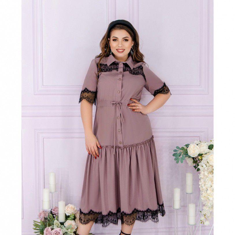 Платье №8624-пудра Размеры 50,52,54,56,