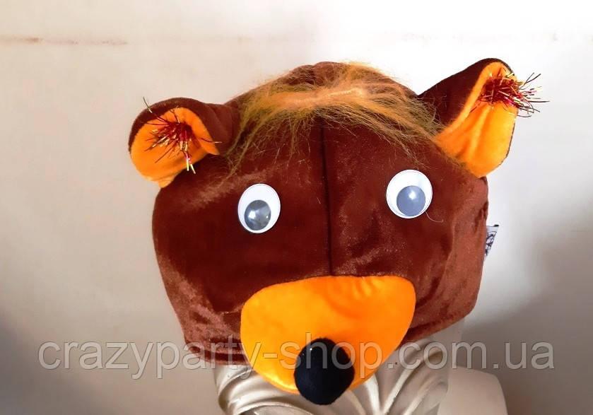 Шапка карнавальная Медведь детская