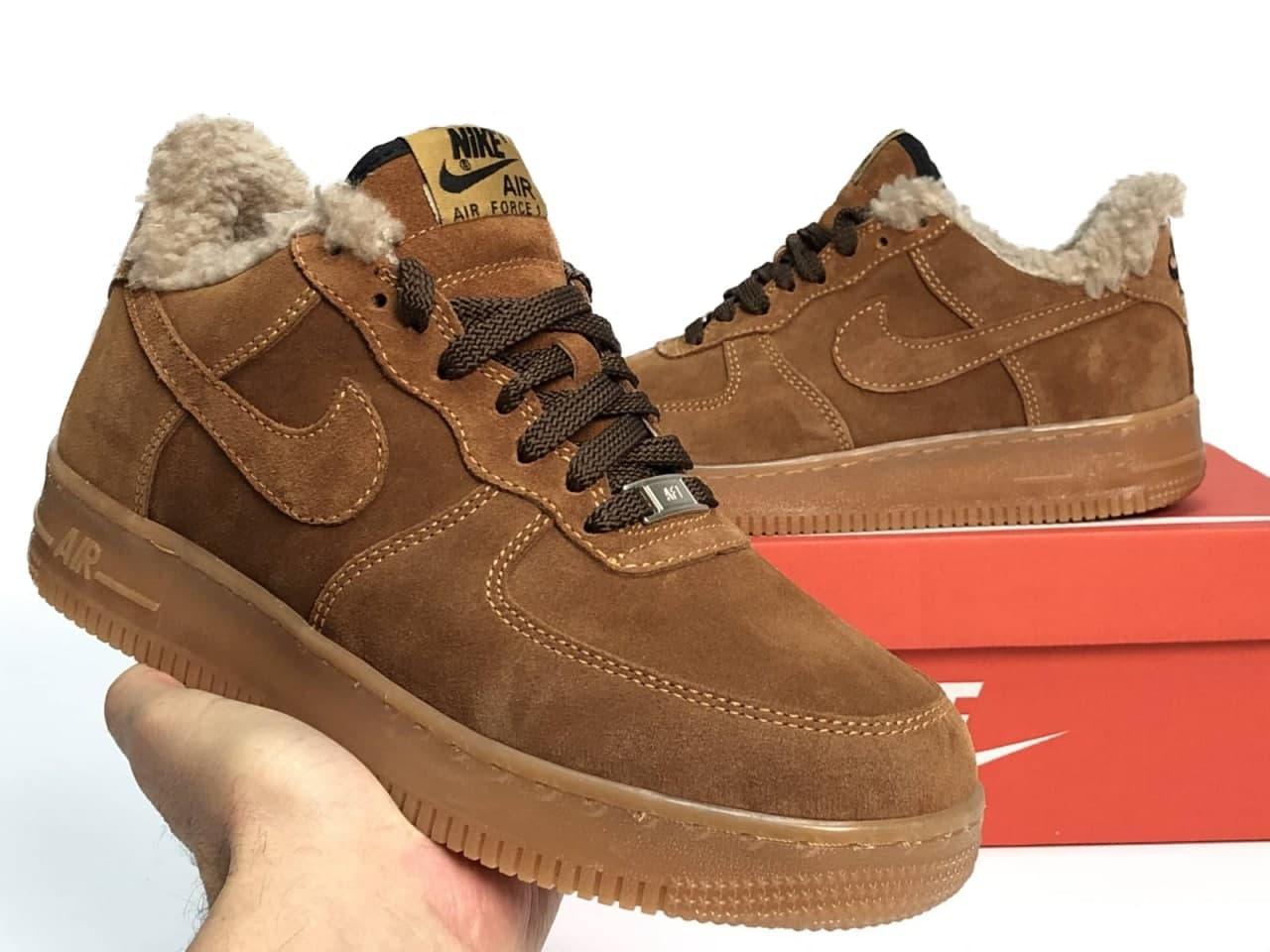 Мужские кроссовки Nike Air Force  мех (копия)
