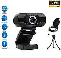 Веб-камера Full HD 1080p (1920x1080) микрофон с шумоподавлением вебкамера c автофокусом для ПК компьютера UTM