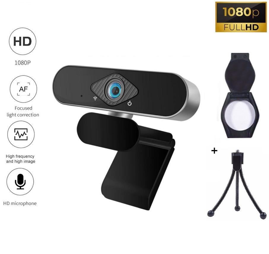 Веб-камера Full HD 1080p (1920x1080) мікрофон з шумозаглушенням вебкамера c автофокусом для ПК комп'ютера UTM