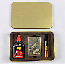 Подарочный Набор 3 в 1 ( Зажигалка ZIPPO Бензиновая, Мундштук  и Бензин для заправки ), фото 3