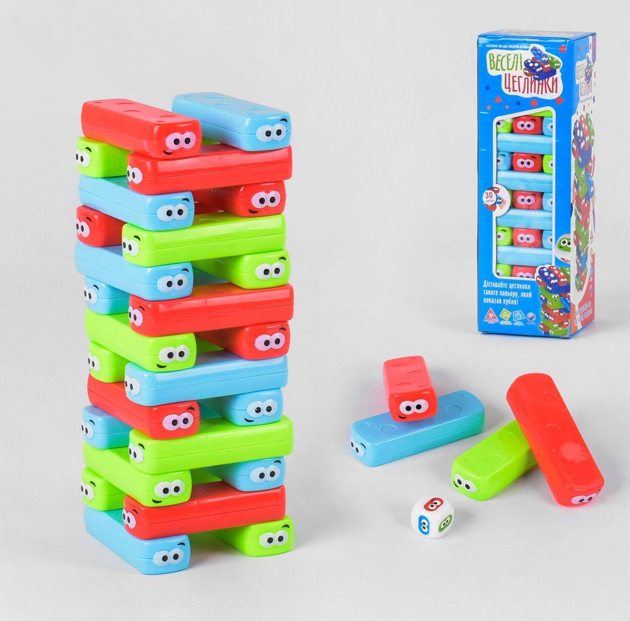 """Настольная игра Fun Game """"Веселі Цеглинки"""" 30 деталей, на украинском языке, в коробке UKB-B 0038"""