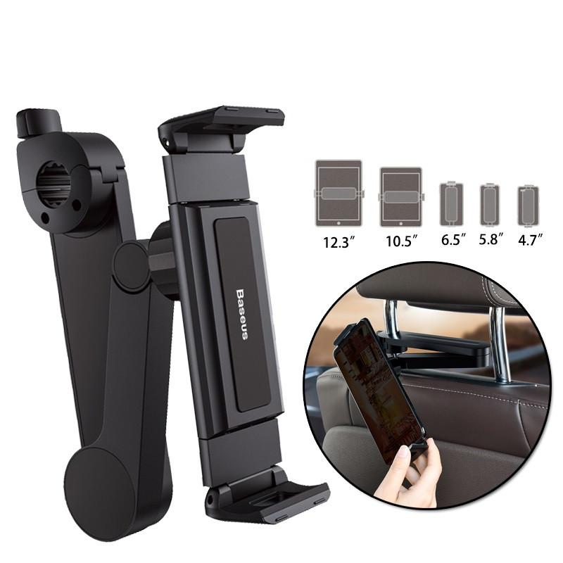 Держатель на подголовник для телефона и планшета Baseus Fun Journey Car Backseat Lazy Bracket Black (SULR-A01)