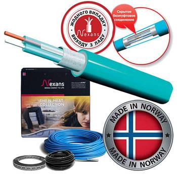 Двухжильный экранированный нагревательный кабель Nexans (Норвегия) TXLP/2R 17Вт/м