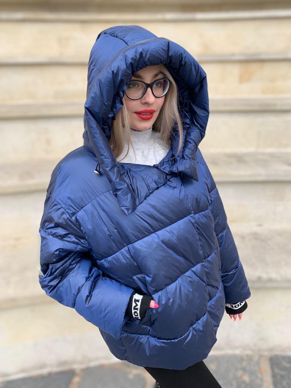 Короткий пуховик куртка RUFUETE  CL7673-blue