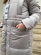 Пальто пуховик в пол RUFUETE 19929-grey, фото 6