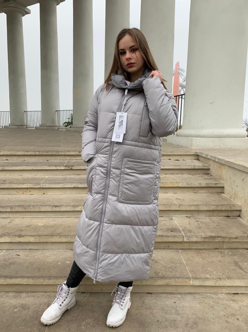 Пальто пуховик в пол RUFUETE 19929-grey