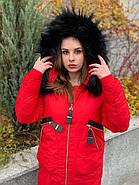 Стильный красный пуховик CHANEVIA 92016-79-red, фото 4