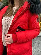 Стильный красный пуховик CHANEVIA 92016-79-red, фото 6