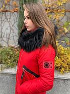 Стильный красный пуховик CHANEVIA 92016-79-red, фото 7