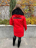 Стильный красный пуховик CHANEVIA 92016-79-red, фото 8