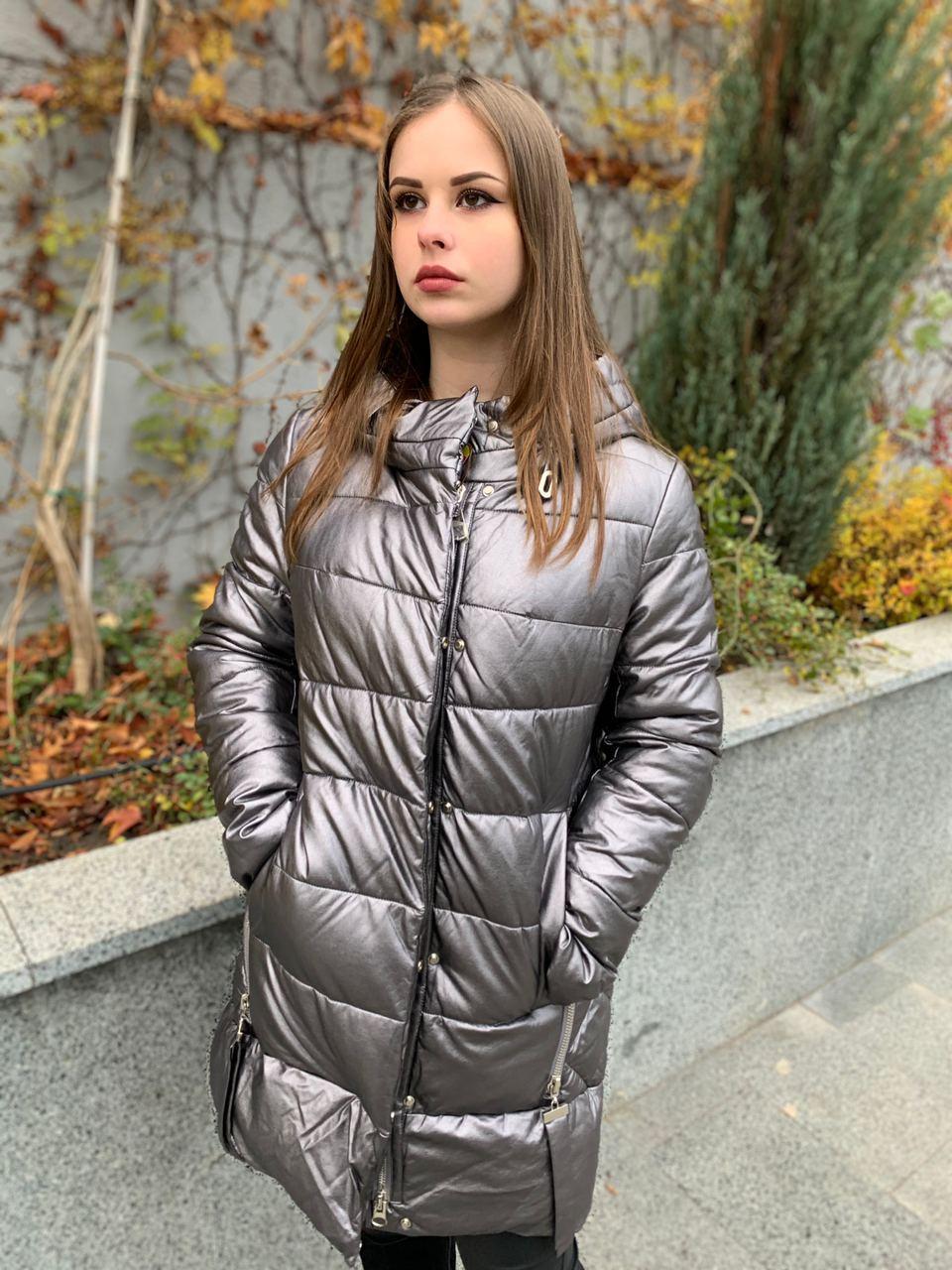 Куртка зимняя эко-кожа AnaVista 06-5