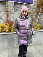 Куртка зимова еко-шкіра AnaVista 06-12, фото 3