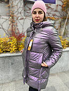 Куртка зимова еко-шкіра AnaVista 06-12, фото 5