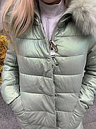 Длинный пуховик с капюшоном AnaVista 36-23, фото 2