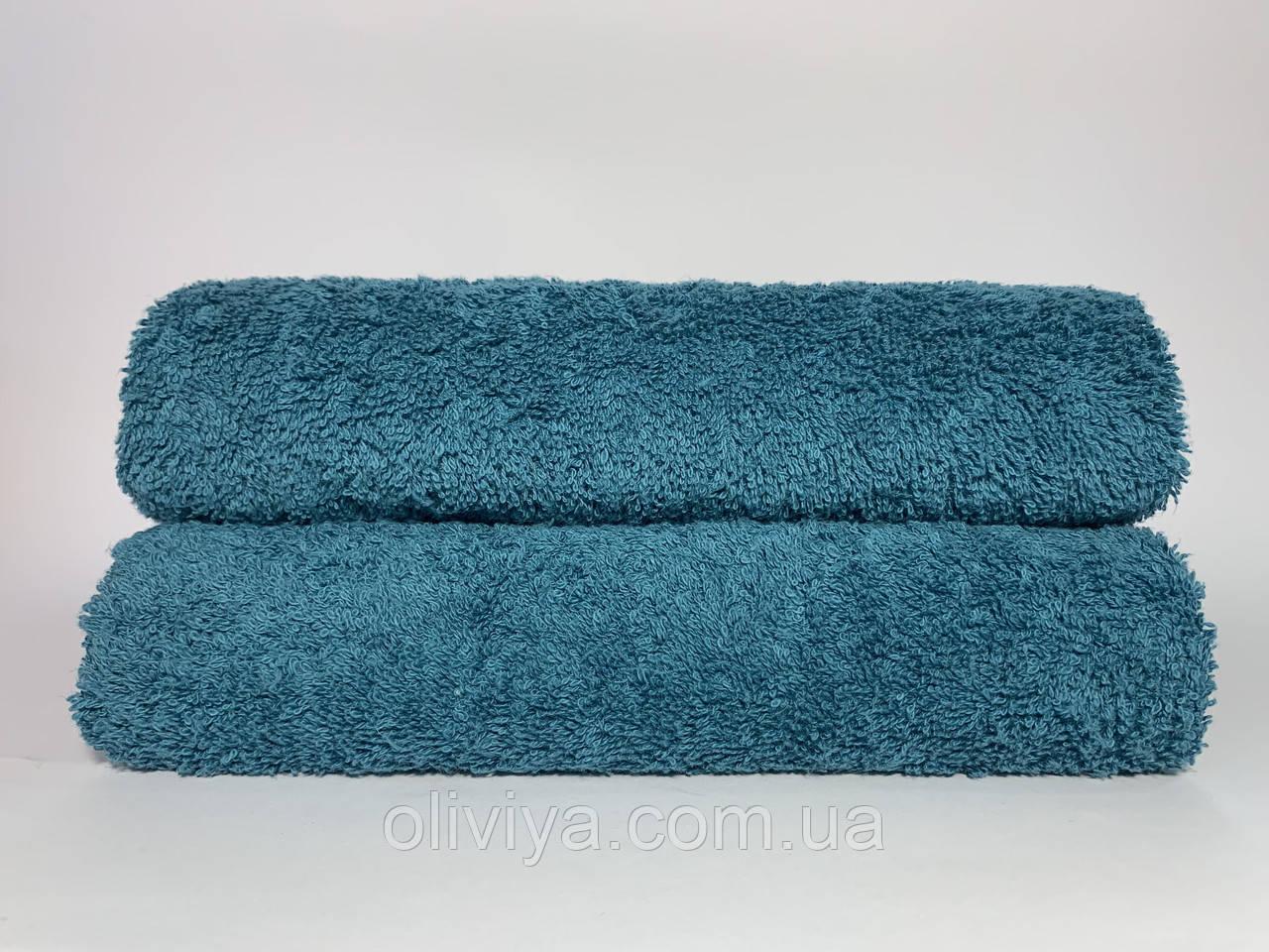 Лицевое махровое полотенце морская волна