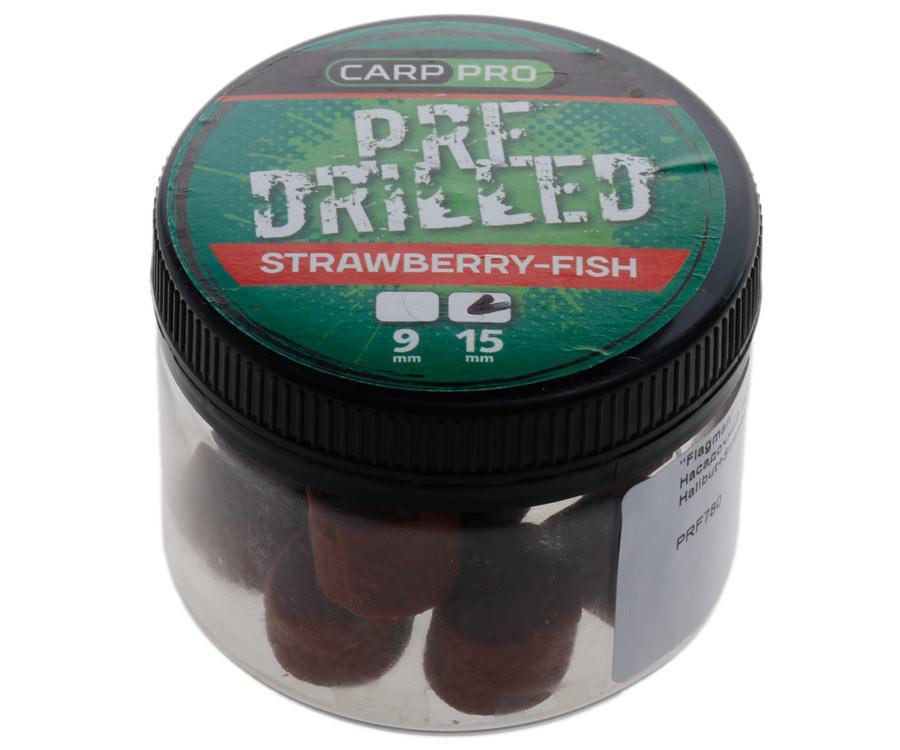 Насадочный пеллетс Carp Pro Red Pre-Drilled Halibut Strawberry 15мм