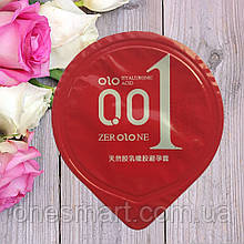 Презервативы с возбуждающим эффектом Olo 0.01 RED ультратонкие с гиалуроновой кислотой