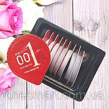 Презервативы с возбуждающим эффектом Olo 0.01 RED ультратонкие с гиалуроновой кислотой 10