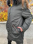 Пуховик зимовий з капюшоном CHANEVIA 92012-25, фото 6
