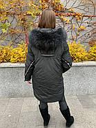 Пуховик зимовий з капюшоном CHANEVIA 92012-25, фото 3