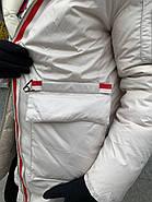 Пуховик женский светлый  CHANEVIA 92031-S27, фото 5