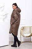 Зимняя куртка женская Плащевка на синтепоне Размер 48 50 52 54 56 58 60 62 В наличии 4 цвета, фото 3