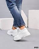 Зимние женские кроссовки белые, фото 3
