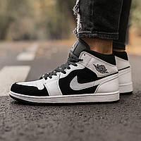 Кросовки мужские Nike Air Jordan Retro Black White чоловічі кросівки найк крассовки найк джордан ретро