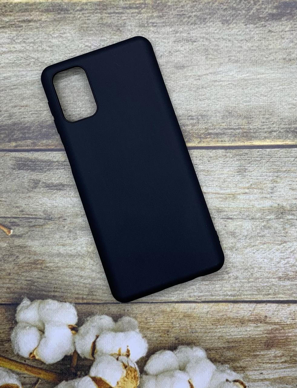 Samsung M31S 2020 (M317F) чехол матовый цветной силиконовый черный