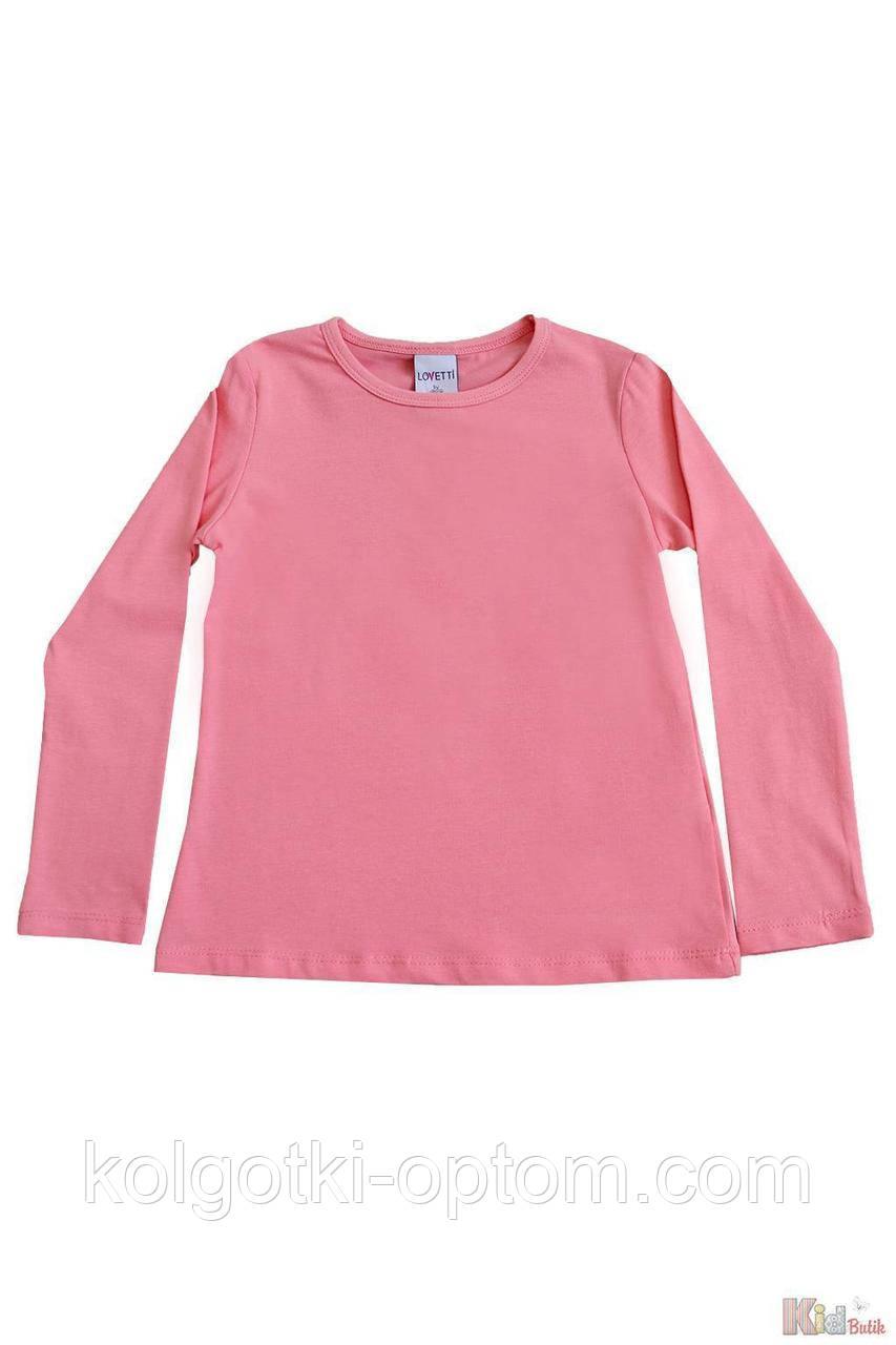 ОПТОМ Реглан персикового цвета базовый для девочки (110 см.)  Lovetti 2125000684574