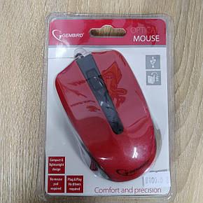 Мышь проводная Gembird MUS-101-R, фото 2