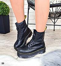 Женские демисезонные ботинки из эко-кожи под кракодила LS-59, фото 3