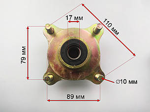 Ступица передняя под дисковый тормоз квадроцикла, фото 2
