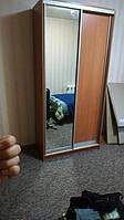 Шкаф-купе 1200 ОЛЬХА ГОРНАЯ, фасад ДСП+Зеркало