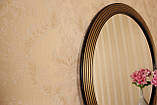 Зеркало в круглой раме черное с золотом /Диаметр 550мм/ /Круглое зеркало в ванную/ Код MD 1.1/1, фото 6