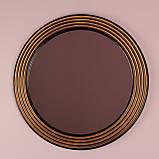 Зеркало в круглой раме черное с золотом /Диаметр 550мм/ /Круглое зеркало в ванную/ Код MD 1.1/1, фото 7
