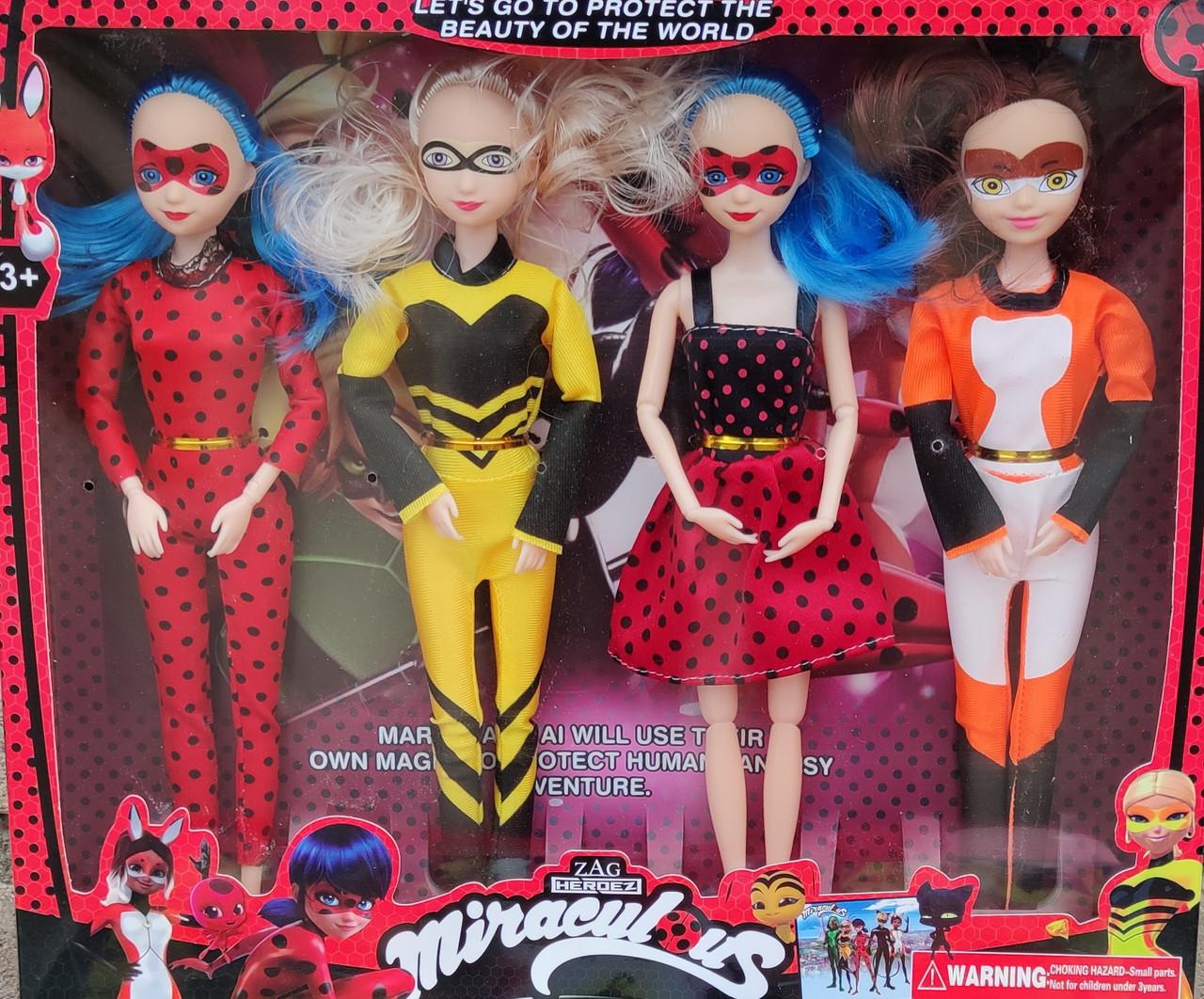 Набор кукол Леди Баг 4шт 31см