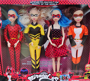 Набор кукол Леди Баг 4шт 31см, фото 2