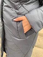 Пуховик женский длинный Delfy 19-10-D5, фото 4