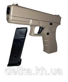 Детский пневматический пистолет VIGOR V20 с пульками, детское оружие