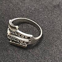 Серебряное кольцо 925 пробы с фианитами, размер 19,5. Вес - 3,96 г. Б/у. Продажа из ломбарда, фото 2