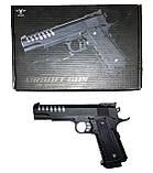 Детский пневматический пистолет VIGOR V305/V303 с пульками, детское оружие, фото 3