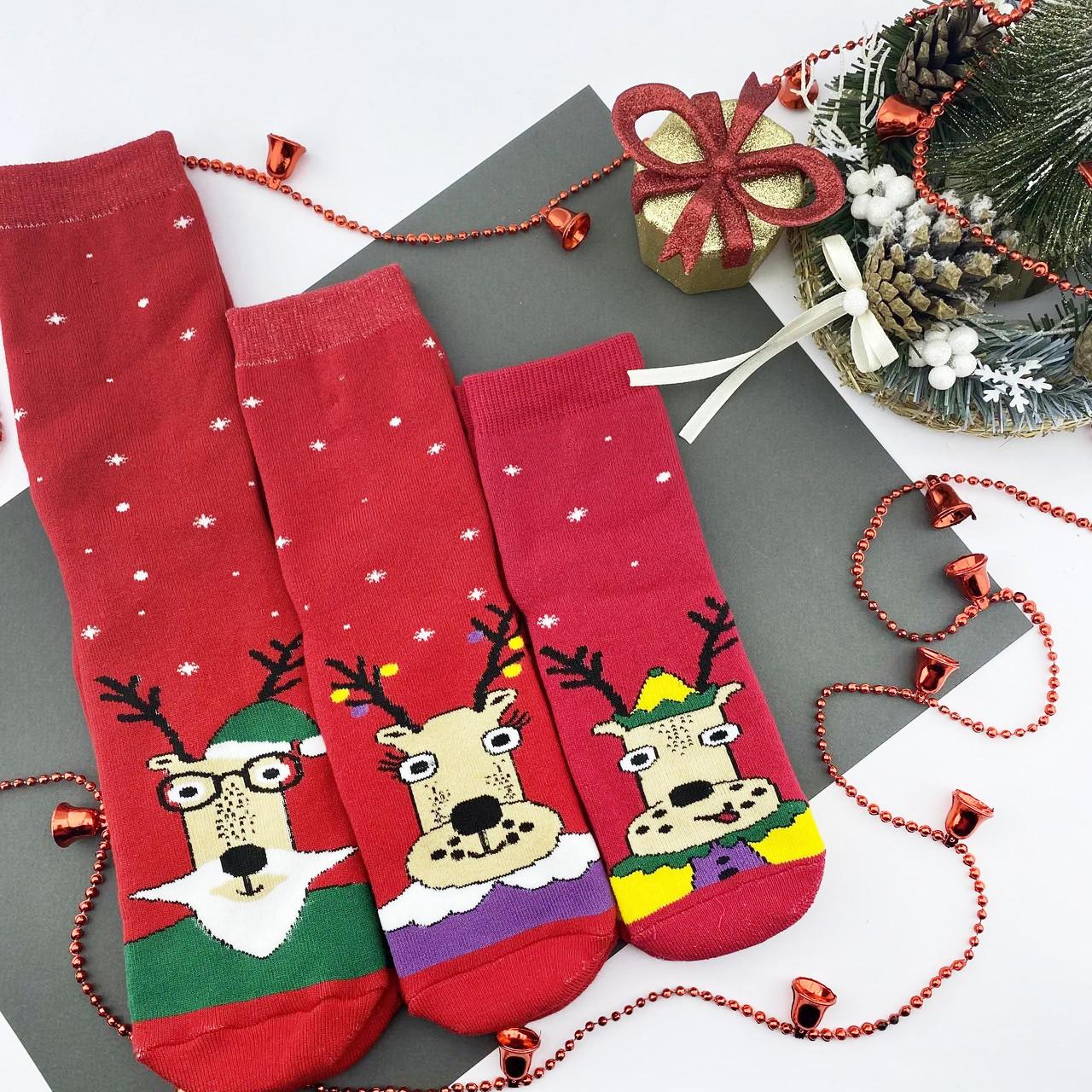 """Новогодние носки махровые для всей семьи """"FAMILY LOOK"""""""
