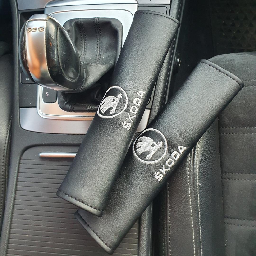"Накладка на ремень безопасности с логотипом  ""Skoda New"""