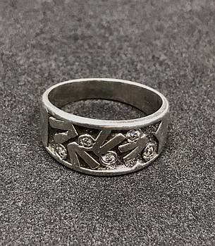 Серебряное кольцо 925 пробы с фианитами, размер 17,5. Вес - 4.20 г. Б/у. Продажа из ломбарда